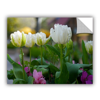 Brushstone White Tulips Removable Wall Decal