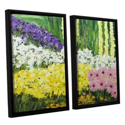 Brushstone Wild Flowers 2 2-pc. Floater Framed Canvas Wall Art