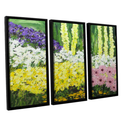 Brushstone Wild Flowers 2 3-pc. Floater Framed Canvas Wall Art