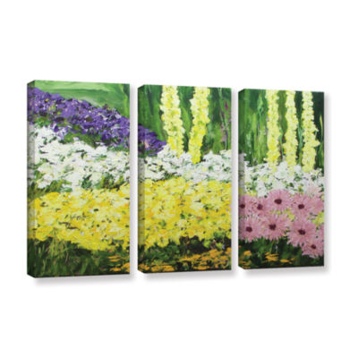 Brushstone Wild Flowers 2 3-pc. Gallery Wrapped Canvas Wall Art