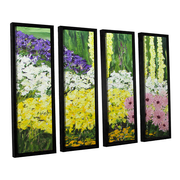Brushstone Wild Flowers 2 4-pc. Floater Framed Canvas Wall Art