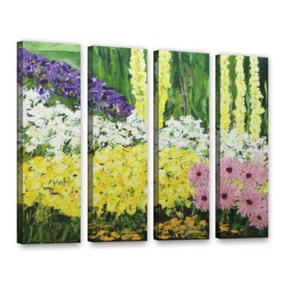 Brushstone Wild Flowers 2 4-pc. Gallery Wrapped Canvas Wall Art