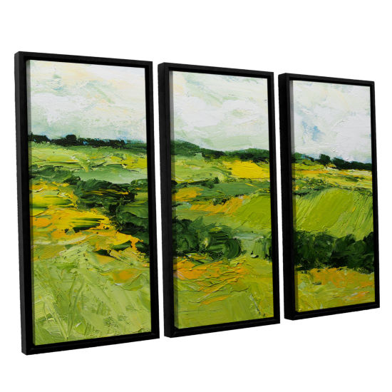 Brushstone Woodbridge 3-pc. Floater Framed CanvasWall Art