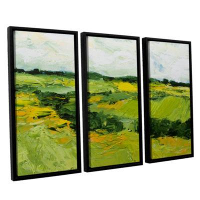 Brushstone Woodbridge 3-pc. Floater Framed CanvasWall Art