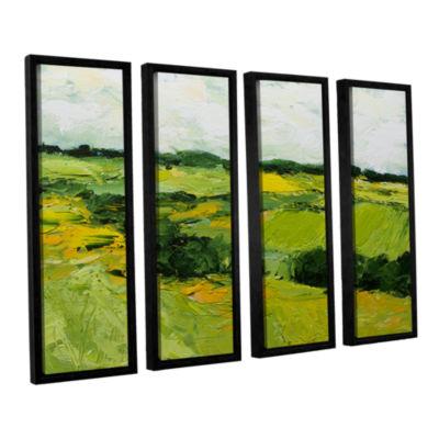 Brushstone Woodbridge 4-pc. Floater Framed CanvasWall Art