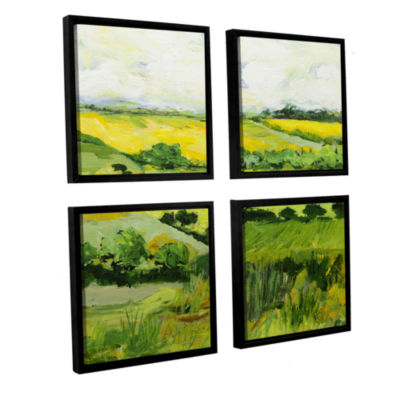 Brushstone Woolton 4-pc. Square Floater Framed Canvas Wall Art