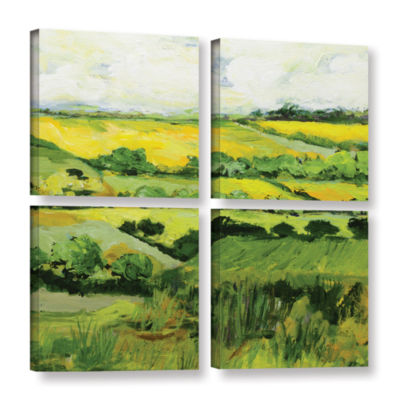 Brushstone Woolton 4-pc. Square Gallery Wrapped Canvas Wall Art