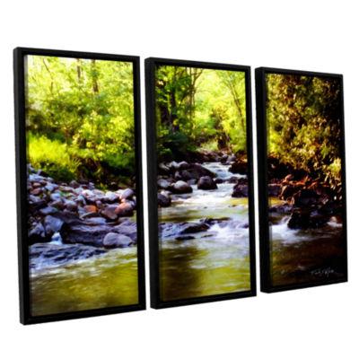 Brushstone Woodland Brook 3-pc. Floater Framed Canvas Wall Art