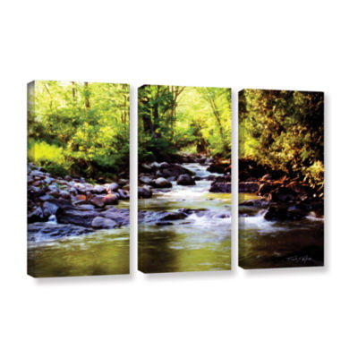Brushstone Woodland Brook 3-pc. Gallery Wrapped Canvas Wall Art