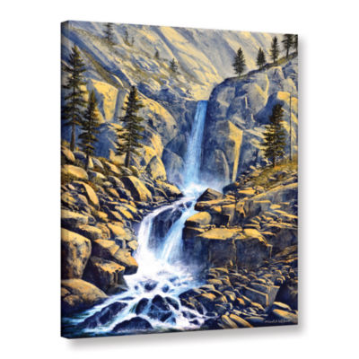 Brushstone Wilderness Waterfall Gallery Wrapped Canvas Wall Art