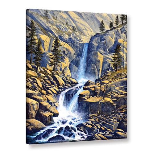 Brushstone Wilderness Waterfall Gallery Wrapped Canvas Wall Art