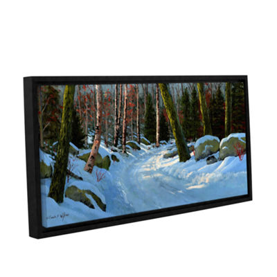 Brushstone Winter Road Gallery Wrapped Floater-Framed Canvas Wall Art