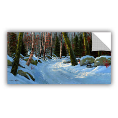 Brushstone Winter Road Removable Wall Decal