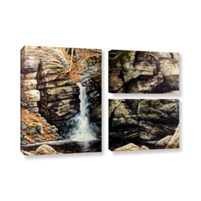 Brushstone Woodland Falls 3-pc. Flag Gallery Wrapped Canvas Wall Art