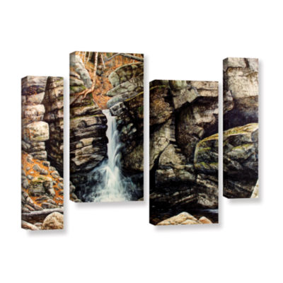 Brushstone Woodland Falls 4-pc. Gallery Wrapped Staggered Canvas Wall Art