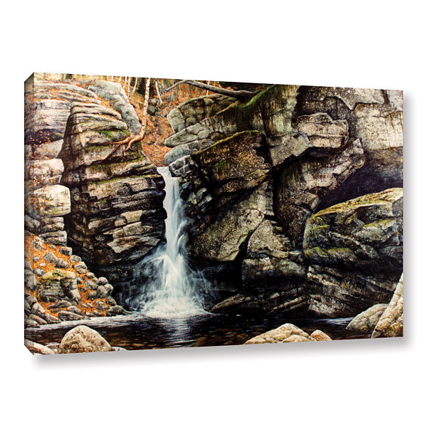 Brushstone Woodland Falls Gallery Wrapped Canvas Wall Art