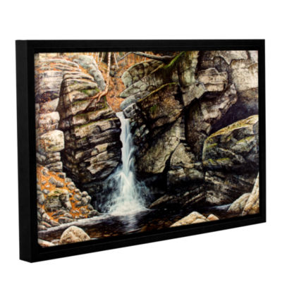 Brushstone Woodland Falls Gallery Wrapped Floater-Framed Canvas Wall Art