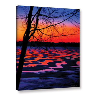 Brushstone Winter Lake Sunrise Gallery Wrapped Canvas Wall Art
