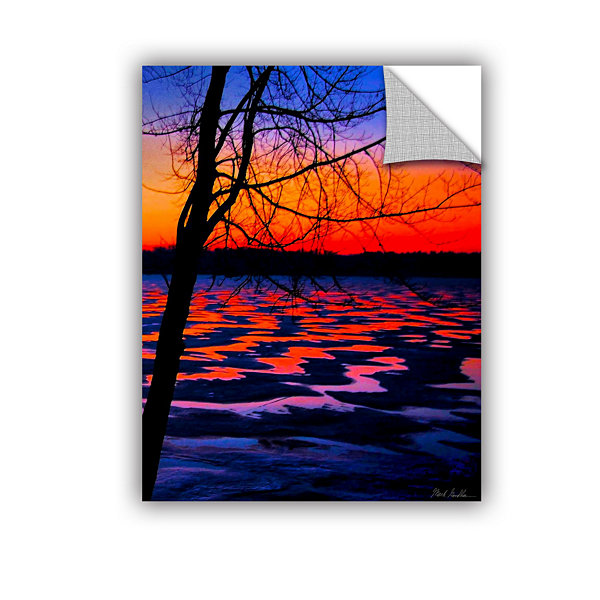 Brushstone Winter Lake Sunrise Removable Wall Decal