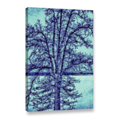 Brushstone Winter Oak Gallery Wrapped Canvas WallArt