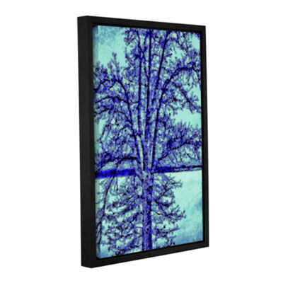 Brushstone Winter Oak Gallery Wrapped Floater-Framed Canvas Wall Art