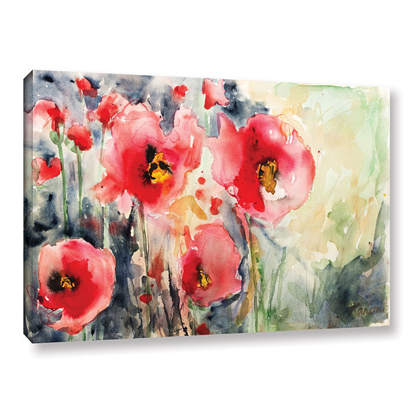 Brushstone Wild Poppies Gallery Wrapped Canvas Wall Art