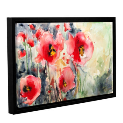 Brushstone Wild Poppies Gallery Wrapped Floater-Framed Canvas Wall Art