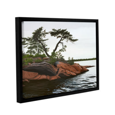 Brushstone Windswept by Ken Kirsh Gallery WrappedFloater-Framed Canvas Wall Art