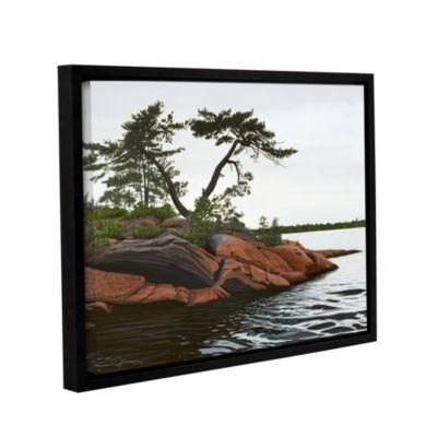 Brushstone Windswept by Ken Kirsh Gallery WrappedFloater-Framed Canvas Wall Art