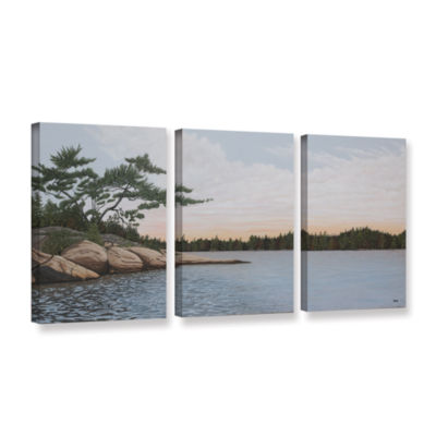Brushstone Winded Pine by Ken Kirsh 3-pc. GalleryWrapped Canvas Wall Art