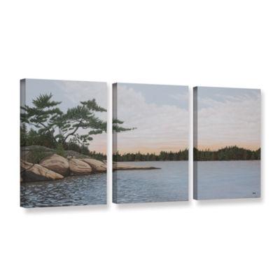 Brushstone Winded Pine by Ken Kirsh 3-pc. GalleryWrapped Canvas Wall Art