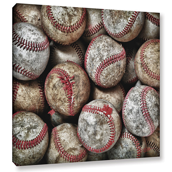 Brushstone Worn Baseballs Gallery Wrapped Canvas Wall Art