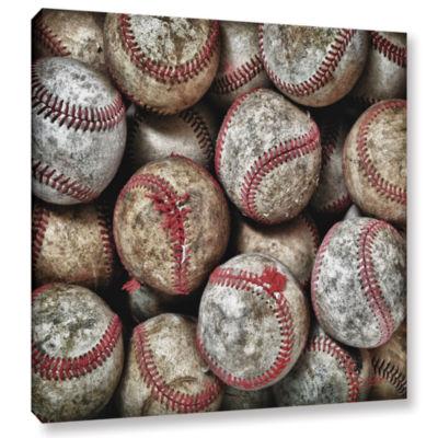Brushstone Worn Baseballs Gallery Wrapped Canvas Wall Art