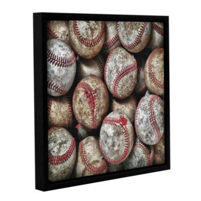 Brushstone Worn Baseballs Gallery Wrapped Floater-Framed Canvas Wall Art