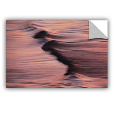 Brushstone Waves And Sunset Removable Wall Decal