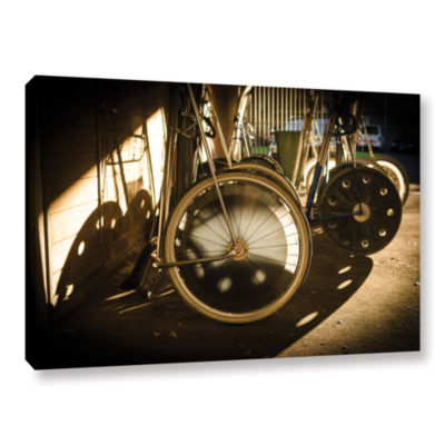 Brushstone Wheels Of Racing Chariots Gallery Wrapped Canvas Wall Art