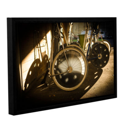 Brushstone Wheels Of Racing Chariots Gallery Wrapped Floater-Framed Canvas Wall Art