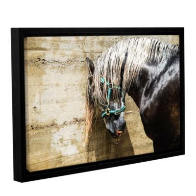 Brushstone Wet Horse Gallery Wrapped Floater-Framed Canvas Wall Art