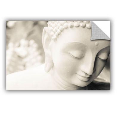 Brushstone White Buddha Removable Wall Decal