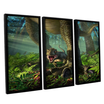 Brushstone Wee Rex 3-pc. Floater Framed Canvas Wall Art