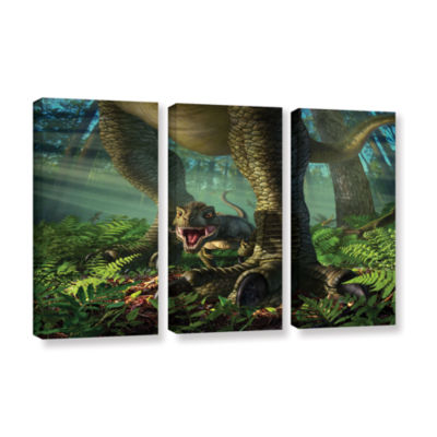 Brushstone Wee Rex 3-pc. Gallery Wrapped Canvas Wall Art