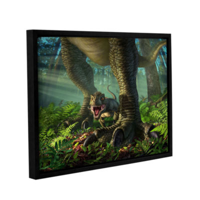 Brushstone Wee Rex Gallery Wrapped Floater-FramedCanvas Wall Art