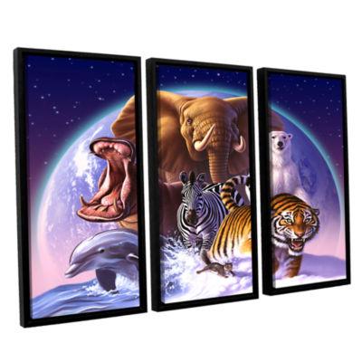 Brushstone Wild World 3-pc. Floater Framed CanvasWall Art