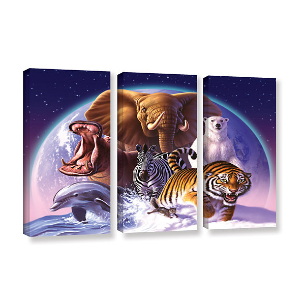Brushstone Wild World 3-pc. Gallery Wrapped CanvasWall Art