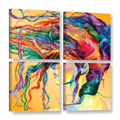 Brushstone Windswept 4-pc. Square Gallery WrappedCanvas Wall Art