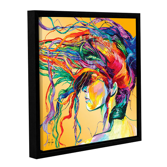 Brushstone Windswept Gallery Wrapped Floater Framed Canvas Wall Art