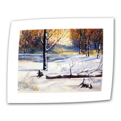 Brushstone Winter Woods Canvas Wall Art
