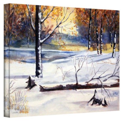 Brushstone Winter Woods Gallery Wrapped Canvas Wall Art