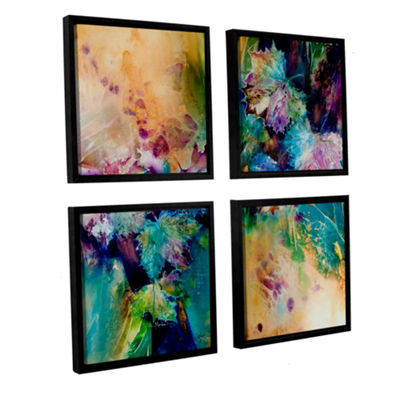 Brushstone Witness 4-pc. Square Floater Framed Canvas Wall Art
