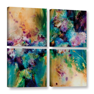 Brushstone Witness 4-pc. Square Gallery Wrapped Canvas Wall Art